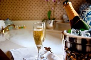 Baño con champagne