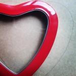 Contorno corazón manualidad romántica corazón de hilos