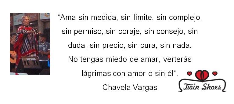 Imagen con frase de amor Chavela Vargas
