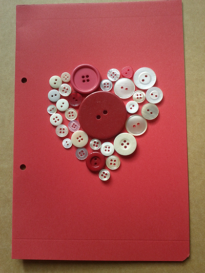 Manualidades de amor botones colocados buscar pareja - Manualidades de botones ...