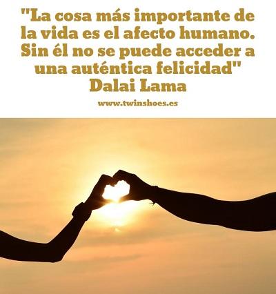 """""""La cosa más importante de la vida es el afecto humano. Sin él no se puede acceder a una auténtica felicidad."""" Dalai Lama"""