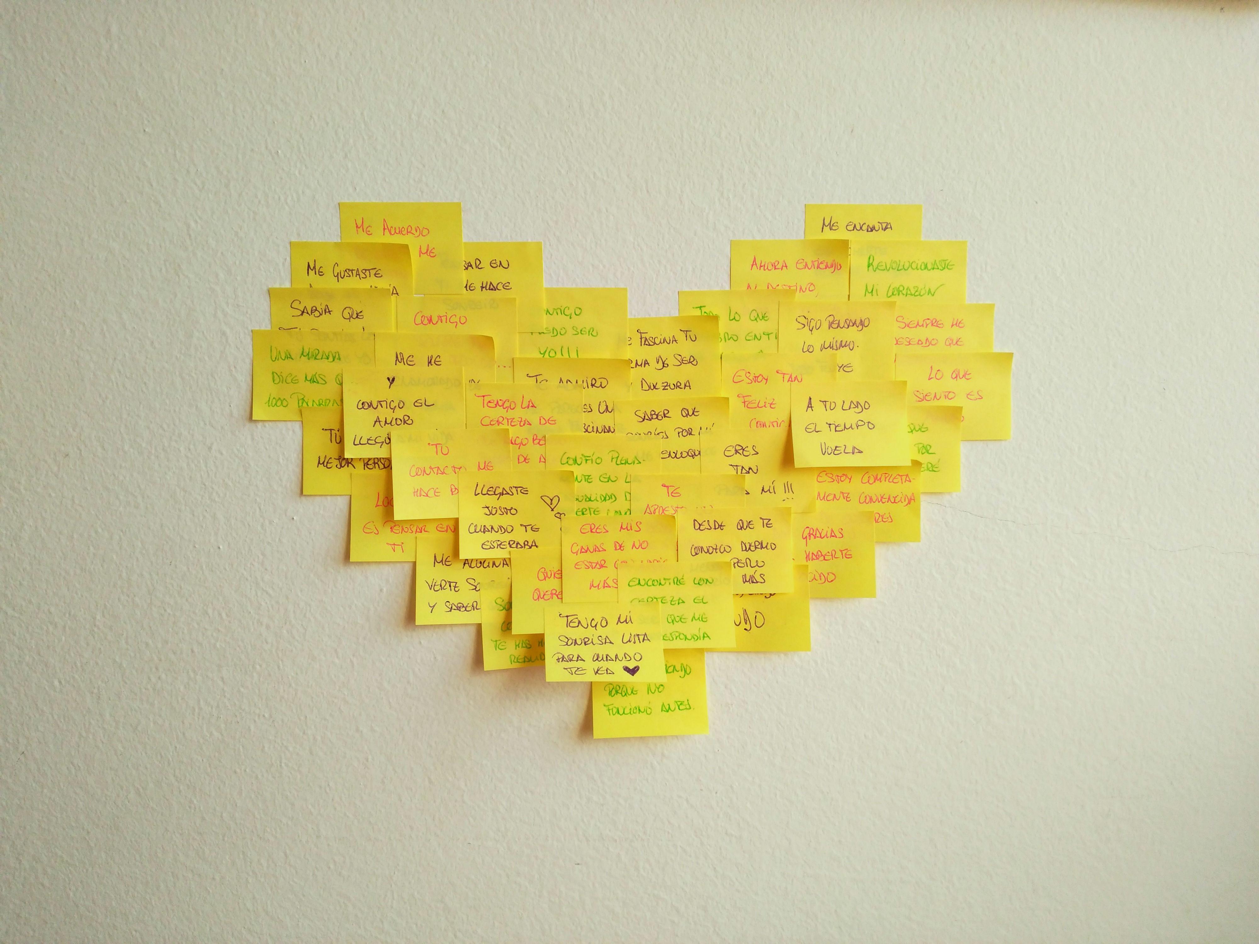 Corazon De Post It Manualidad De Amor Buscar Pareja Estable