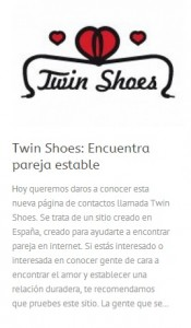 Twin Shoes en Contactopolis