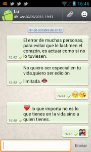 Frases románticas para WhatsApp