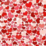 Fondo de Pantalla corazones rojos y rosas