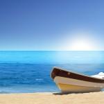 barca en playa