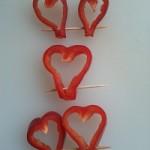 corazones de pimiento