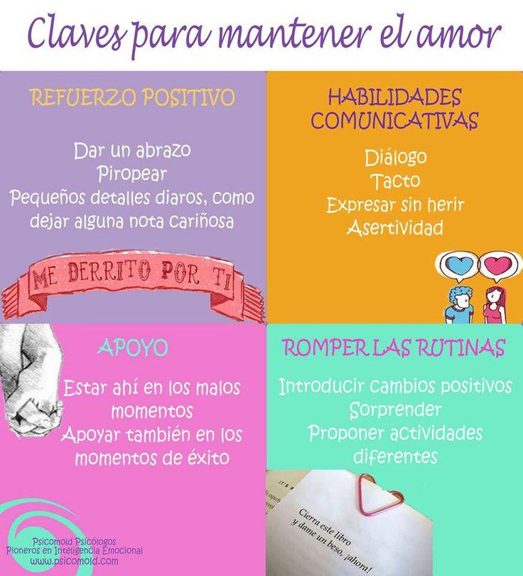 infografía 4 claves para mantener el amor