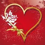 Wallpaper rojo corazón