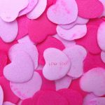 Fondo de pantalla Corazones rosas