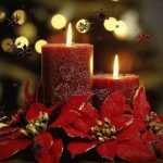 Wallpaper velas de Navidad