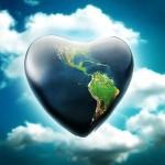 Fondo de pantalla La Tierra en forma de corazón
