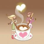 Fondo de pantalla taza de café con corazón