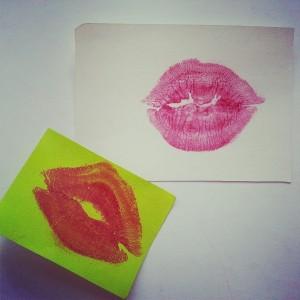 Besos en papel
