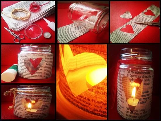candelabros con corazón