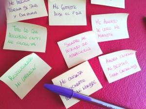 Frases bonitas en Post-it