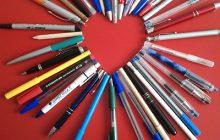 Manualidades de amor Corazón de bolígrafos