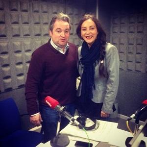 Itziar Villar y Pablo Portabales en Radio Voz