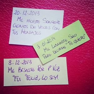 Manualidad romántica, mensajes de amor gracias por