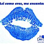 Imagen de beso con frase de amor