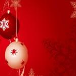 Wallpapers bolas de navidad roja y blanca