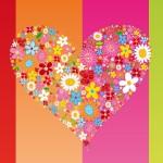 corazón de flores
