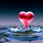 Fondo de pantalla para móvil corazón en agua