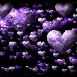 Fondo de pantalla corazones violetas