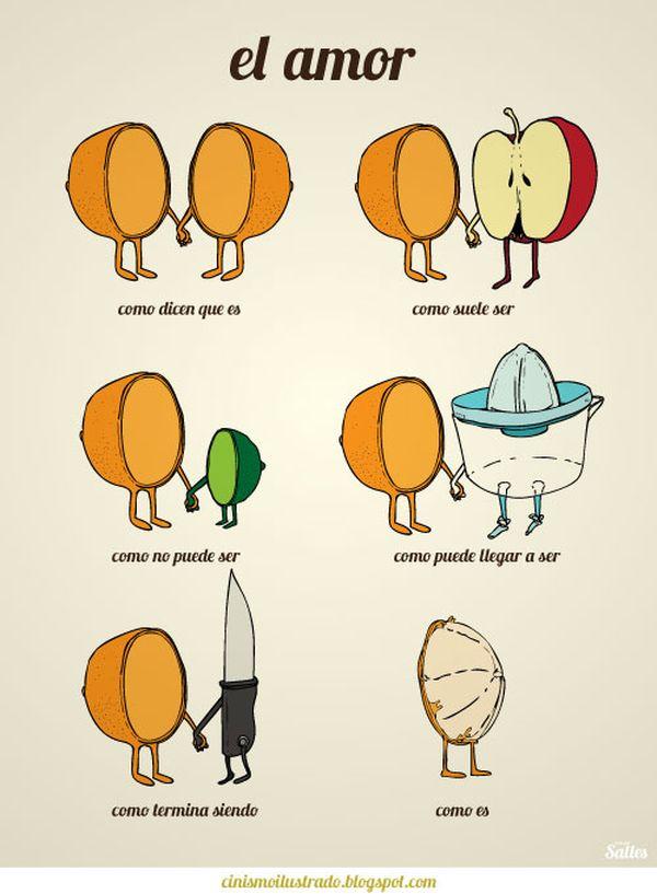 Viñeta de humor: tu media naranja