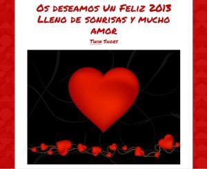 Twin Shoes te desea feliz 2013 lleno de amor y sonrisas