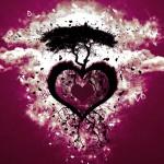 Fondo de pantalla corazón árbol