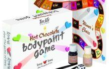 juego de pintura corporal de chocolate
