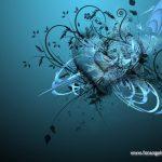 Fondo de pantalla corazón azul