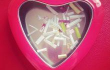 manualidad romántica caja de mensajes forma de corazón