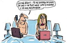 pareja tecnológica