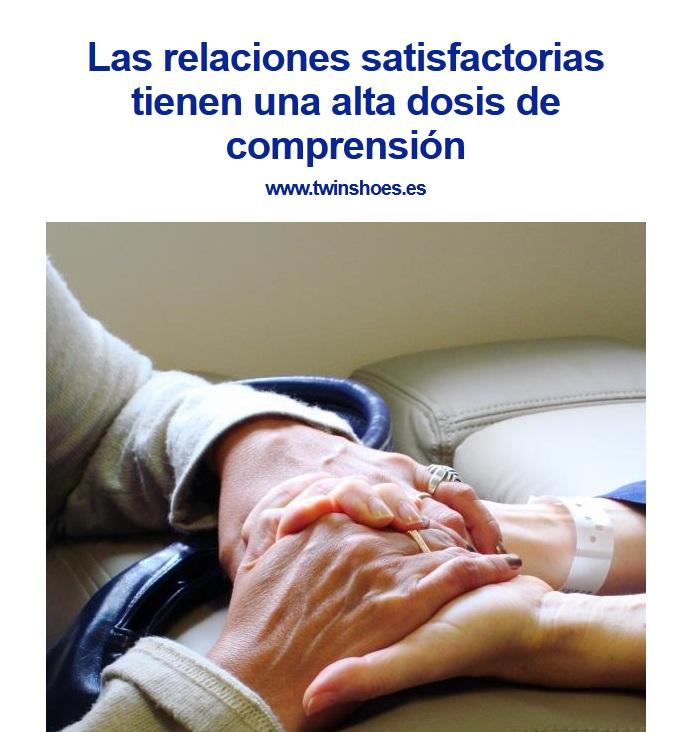Las relaciones satisfactorias tienen una alta dosis de compresión.