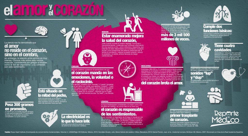 Infografía amor y corazón