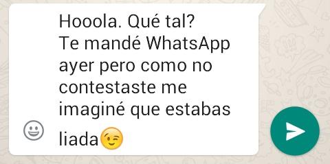 Conversación WhatsApp falta inetrés