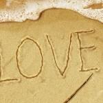 Fondo de Pantalla Love en la arena